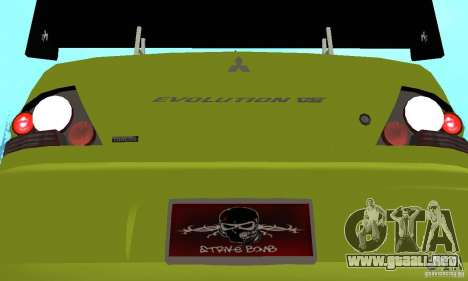 Mitsubishi Lancer Evo The Fast and the Furious 2 para visión interna GTA San Andreas
