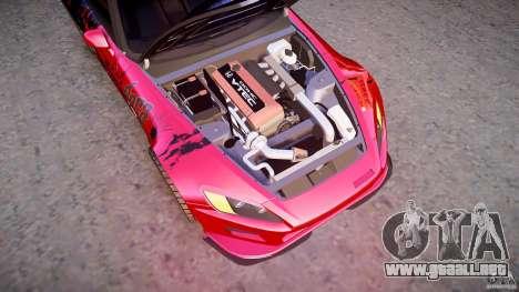 Honda S2000 Tuning 2002 Skin 1 para GTA 4 vista desde abajo