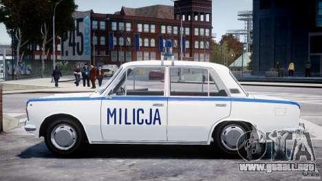 Fiat 125p Polski Milicja para GTA 4 left