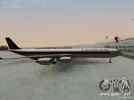 Airbus A-340-600 Singapore para GTA San Andreas left