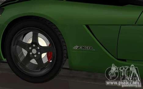 Dodge Viper un poco tuning para GTA San Andreas vista posterior izquierda