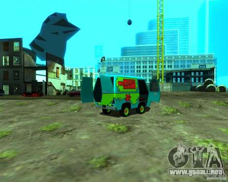 Mystery Machine para GTA San Andreas vista posterior izquierda
