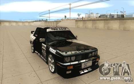 BMW E30 M3 - Coupe Explosive para GTA San Andreas vista hacia atrás