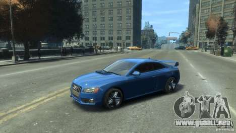 Audi S5 1.1 para GTA 4 Vista posterior izquierda