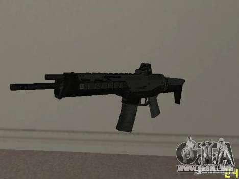 Armas de la COD MW 2 para GTA San Andreas sucesivamente de pantalla