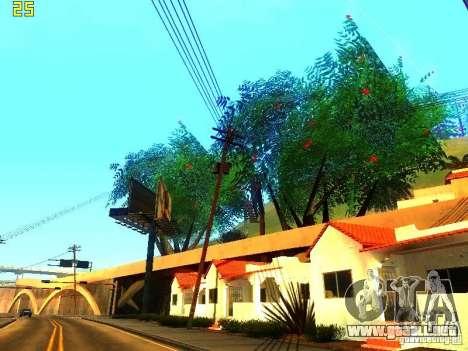 Vegetación perfecta v. 2 para GTA San Andreas quinta pantalla