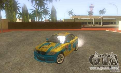 BMW 135i (E82) para vista inferior GTA San Andreas