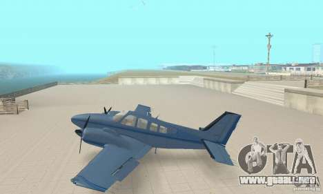 Beechcraft Baron 58 T para GTA San Andreas vista posterior izquierda