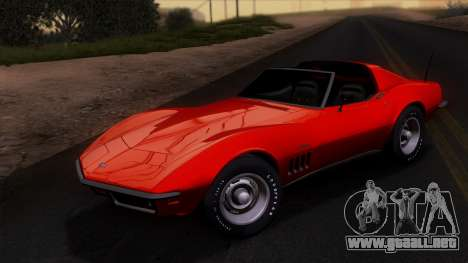 Chevrolet Corvette C3 Stingray T-Top 1969 v1.1 para vista lateral GTA San Andreas