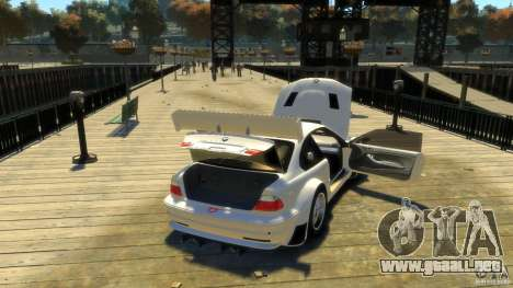 BMW E46 M3 GTR Sport para GTA 4 vista lateral