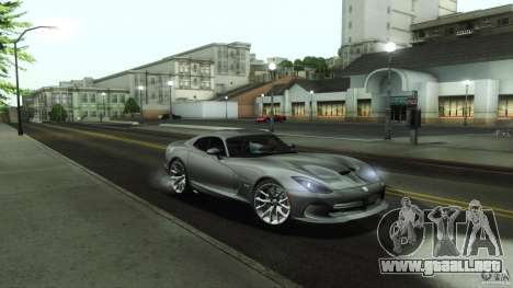 Dodge SRT Viper GTS 2012 V1.0 para vista inferior GTA San Andreas