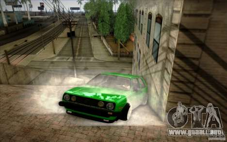 VW Golf MK2 Stanced para GTA San Andreas left