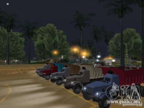 KrAZ-256b1-030 para visión interna GTA San Andreas