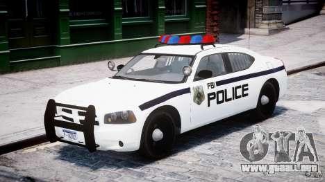Dodge Charger FBI Police para GTA 4 left