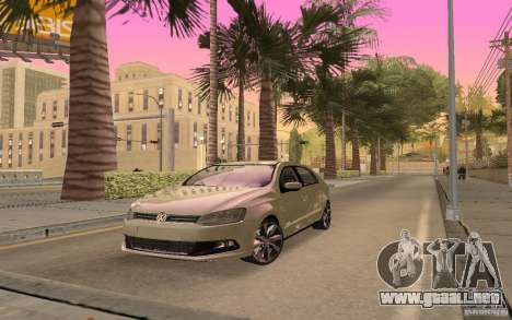 Volkswagen Gol G6 para GTA San Andreas vista posterior izquierda