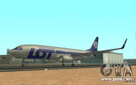 Boeing 737 LOT Polish Airlines para GTA San Andreas