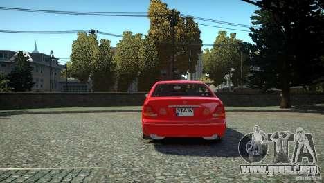 Toyota Aristo para GTA 4 Vista posterior izquierda