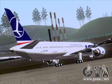 Boeing 787-9 LOT Polish Airlines para visión interna GTA San Andreas