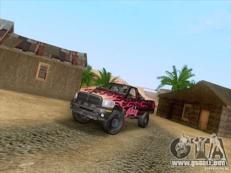 Dodge Ram Trophy Truck para vista lateral GTA San Andreas