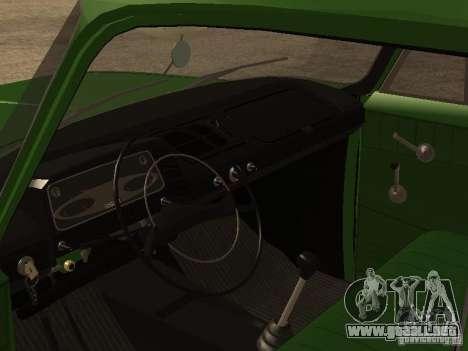 Versión temprana IZH 2715 para GTA San Andreas vista hacia atrás
