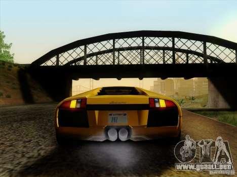 Lamborghini Murcielago LP640-4 para GTA San Andreas vista posterior izquierda