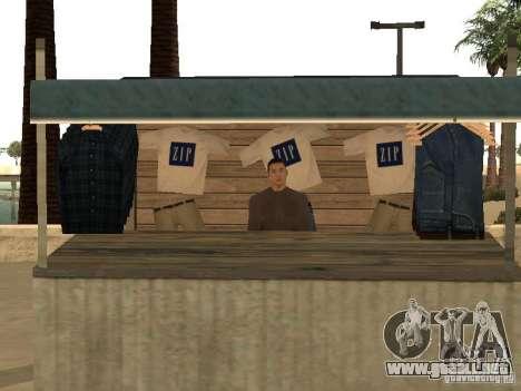 Mercado en la playa para GTA San Andreas undécima de pantalla