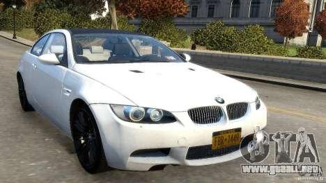 BMW M3 E92 2008 v1.0 para GTA 4 left