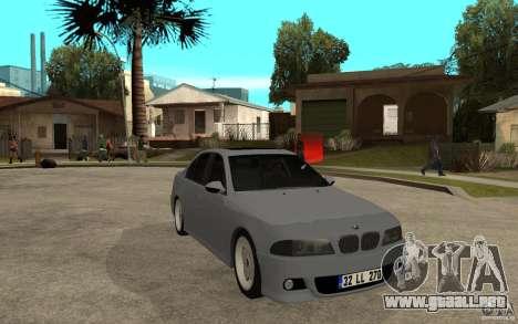 BMW 523i CebeL Tuning para GTA San Andreas vista hacia atrás