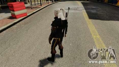 Geralt de Rivia v3 para GTA 4 adelante de pantalla