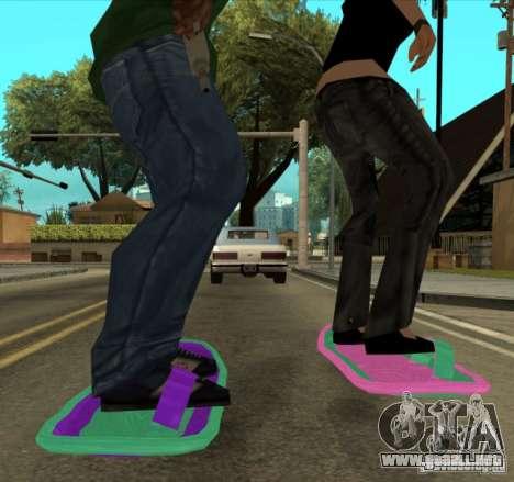 Hoverboard bttf para GTA San Andreas vista posterior izquierda