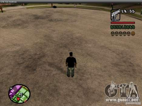 La fuente del NFS MW V2 para GTA San Andreas octavo de pantalla