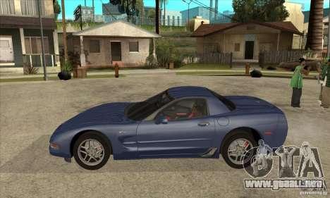 Chevrolet Corvette 5 para GTA San Andreas interior