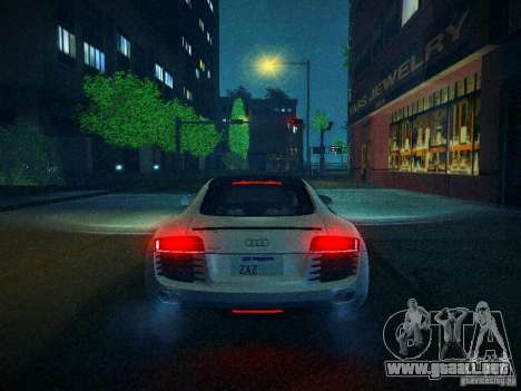 Audi R8 V10 para la vista superior GTA San Andreas