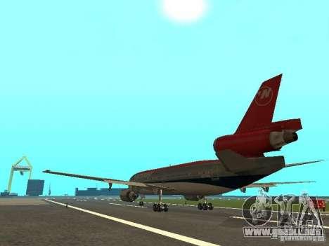 McDonell Douglas DC 10 Nortwest Airlines para la visión correcta GTA San Andreas