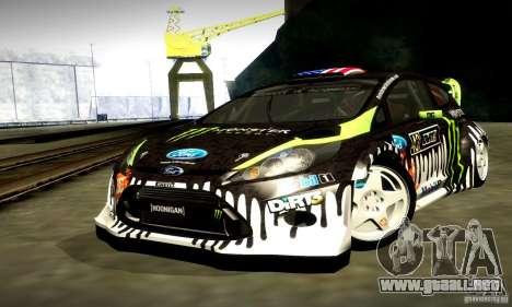 Ford Fiesta Gymkhana 4 para vista lateral GTA San Andreas
