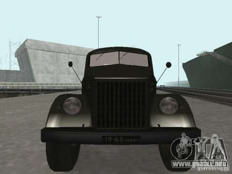 GAZ 51 p para GTA San Andreas vista hacia atrás