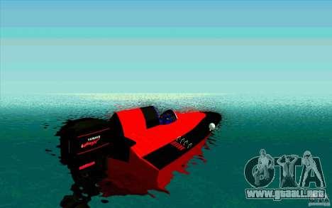 Race Boat para GTA San Andreas vista posterior izquierda