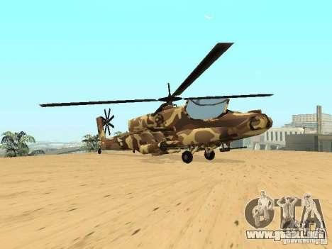 Nuevas texturas para el cazador para GTA San Andreas vista hacia atrás