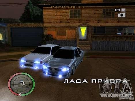 Lada Priora Dag Style para GTA San Andreas vista posterior izquierda