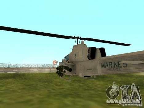 AH-1 Supercobra para la visión correcta GTA San Andreas