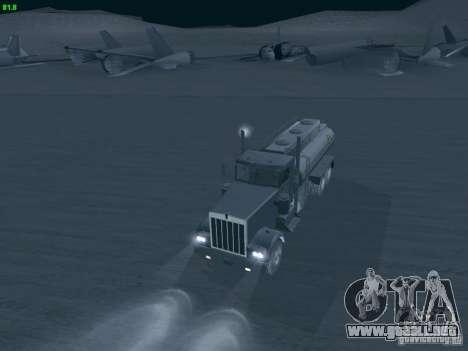 Kenworth Petrol Tanker para la visión correcta GTA San Andreas