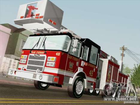 Pierce Rear Mount SFFD Ladder 49 para la vista superior GTA San Andreas