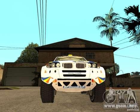 BMW X3CC X-Raid para GTA San Andreas vista hacia atrás