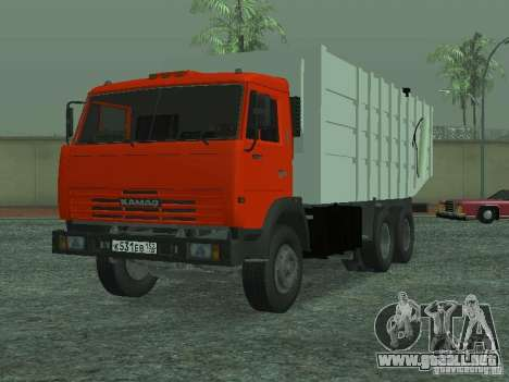 Camión de basura 53215 KAMAZ para GTA San Andreas