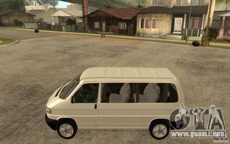Volkswagen Transporter T4 para GTA San Andreas left