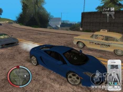 GTA IV HUD Final para GTA San Andreas novena de pantalla