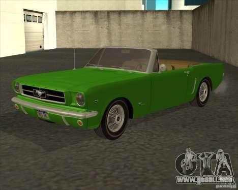 Ford Mustang 289 1964 para GTA San Andreas