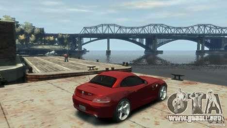 BMW Z4 para GTA 4 Vista posterior izquierda