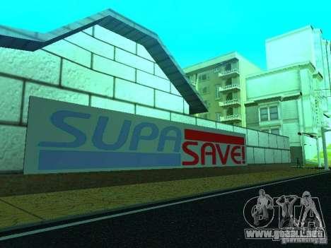 Nueva tienda de textura SupaSave para GTA San Andreas sucesivamente de pantalla