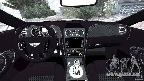 Bentley Continental GT Premier v1.0 para GTA 4 vista hacia atrás